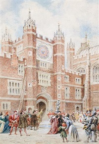 the first evolution of the old astronomical clock at hampton court in 1540 by walter duncan