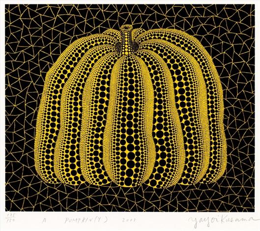 a pumpkin y by yayoi kusama