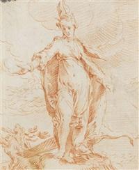 die römische göttin juno by cornelis bloemaert the younger