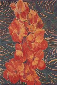 orange gladiola by pacita abad
