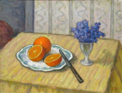 oranges and violets by dan ialomiteanu