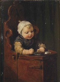 toddler in a child seat by david adolf constant artz