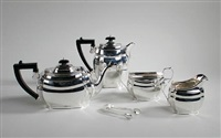 tea set (4 pieces) by s. blanckensee & son