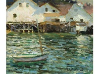 sunlight in the harbor by e.charlton fortune