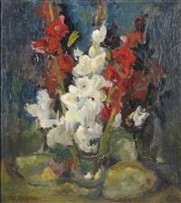 stillleben mit gladiolen by robin christian andersen
