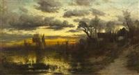ships at dusk by carl weber