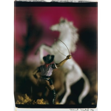 cowboy with lasso from wild west by david levinthal