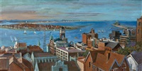 newcastle harbour by margaret hannah olley