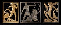 zodiac panels for the department store's lifts (set of 6) by c.a. llewellyn- roberts