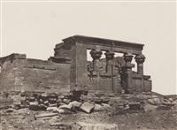 nubie: temple de débôd, haute egypte: mosquée d'ali bey, palestine: jérusalem, mosquée d'omar, et le kaire: mosquée de sultan kansou el gouri (4 works) by maxime du camp