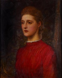 the artist's adopted daughter lilian (study) by george frederick watts
