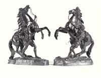 marly horses (2 works) by guillaume coustou the elder