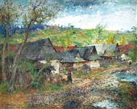 krajina s vesnicí by oldrich blazicek