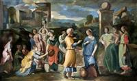 en la fuente, escena clásica by héctor basaldúa