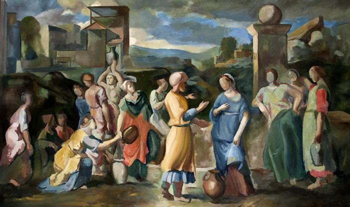 en la fuente escena clásica by héctor basaldúa