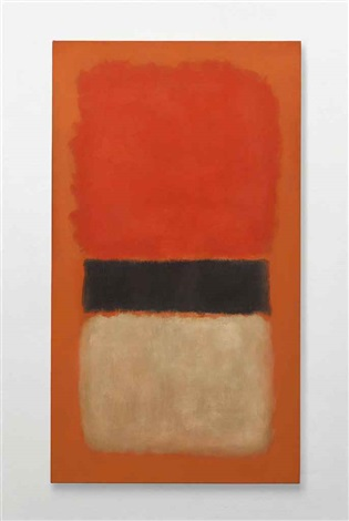 black stripe orange gold and black by mark rothko