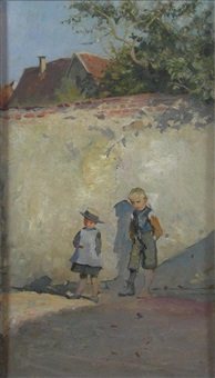 a girl and an urchin by robert payton reid