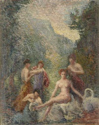 le bain des nymphes by hippolyte petitjean