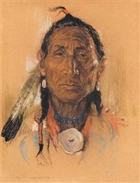 untitled - indian chief by nicholas de grandmaison