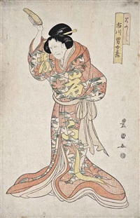 a design of the actor ichikawa danjuro in an onnagata role by utagawa toyokuni (toyokuni i)