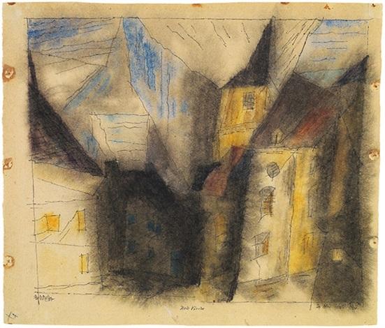 stadt kirche by lyonel feininger