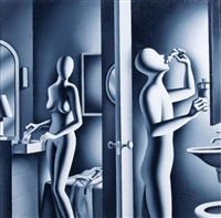 hand in mounth by mark kostabi