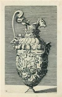 vase avec thétis, saturne et neptune (after rosso) by rené boyvin