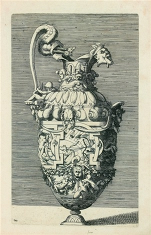 vase avec thétis saturne et neptune after rosso by rené boyvin