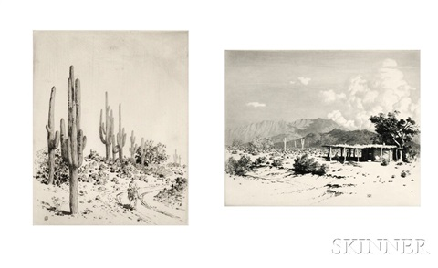 indian home salt river mountains arizona and on road to apache reservation arizona 2 works by george elbert burr
