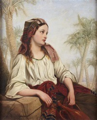 rebecca at the well by henry nelson o'neil