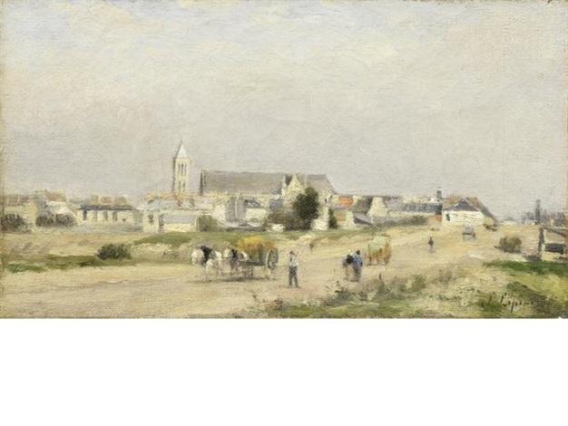 vue dun village by stanislas lépine