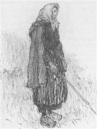 paysanne au fichu jaune by georges gobo