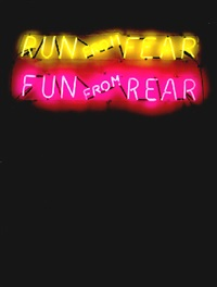 run from fear - fun from rear by bruce nauman