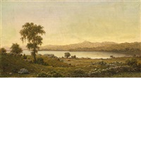 rhode island scene (a lake study) by martin johnson heade