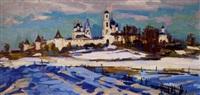 paysage de russie by vladimir ivanovitch valentsov