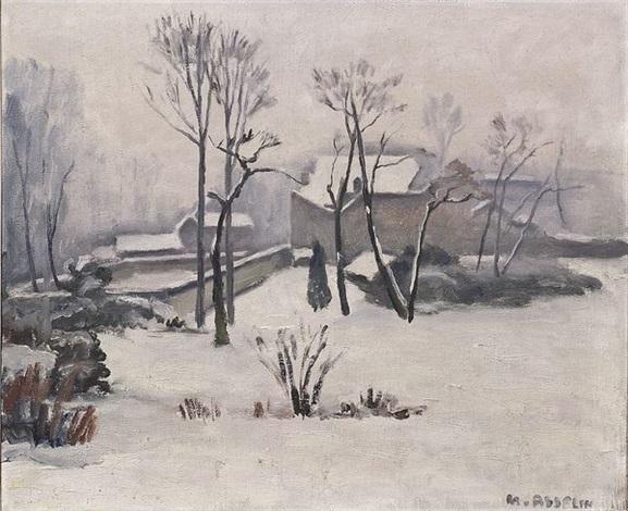 paysage de neige by maurice asselin