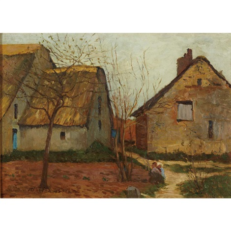 thatched cottages, brittany by maxime maufra