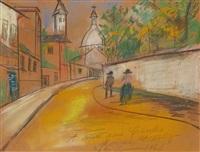 la rue de l'abreuvoir à montmartre by maurice utrillo