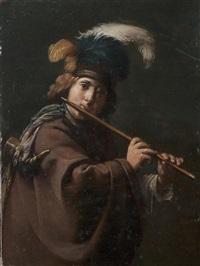 le joueur de flûte by jan van biljert