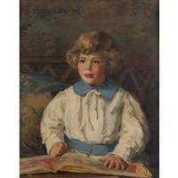portrait of a young girl by louise howland king cox
