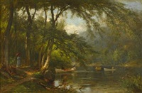 profile lake, franconia, new hampshire by samuel lancaster gerry