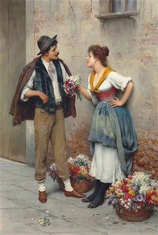 blaaseugene de the flower seller by eugen von blaas