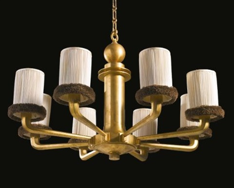 rare chandelier by émile jacques ruhlmann