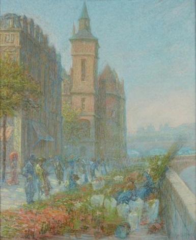 quai aux fleurs près de la conciergerie paris by rudolf quittner