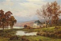 maison au bord d'un lac by lucien simonnet