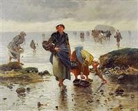 pêcheuses bretonnes (pair) by pierre testu