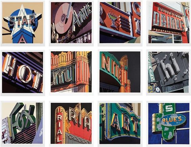 american signs portfolio set of 12 by robert cottingham
