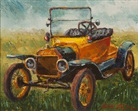 yellow model t, ford motor co. dearborn, michigan by ben abril