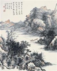 秋江独钓 by sun keming