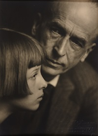 artist and writer ernst wagner with his daughter christl by trude fleischmann